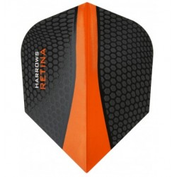 plume retina noir et orange