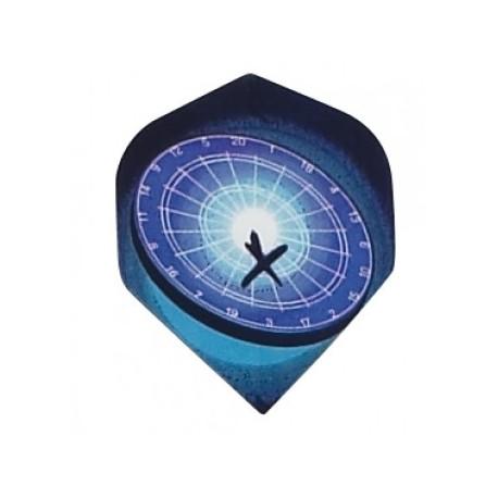 plume metronic cible bleu