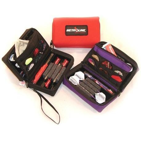 etui deluxe pour 2 sets de dards couleur rouge accessoires non inclus