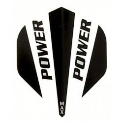 plume power noir et blanc
