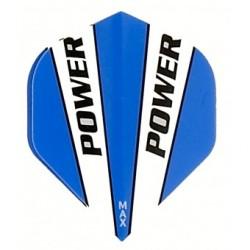 plume power bleu et blanc