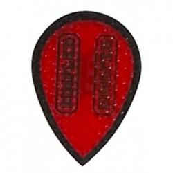 plume dimplex  poire rouge contour noir