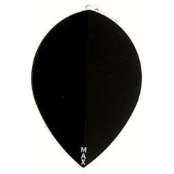 plume rigide noir poire R4X